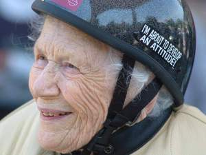 102 YEAR OLD BIKER CHICK